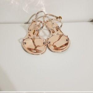 Shoes - Rose gold studded sandals